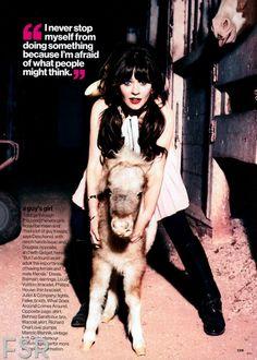Zooey Deschanel in @Glamour February 2013