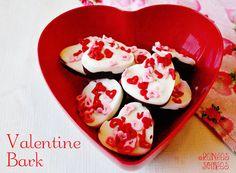 Heart Bark for Valentine's Day (easy!)    #Valentine #chocolate #bark
