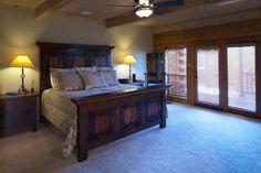 Satterwhite Log Homes.  Love the bed.