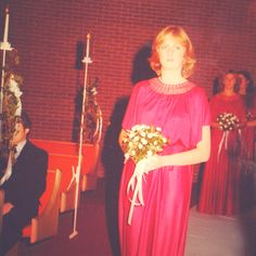 1970s Bridesmaid. My mother
