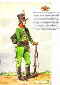 Guerres Napoléoniennes soldat de la 6ème Régiment de Chasseurs, 1805-1808 gg.