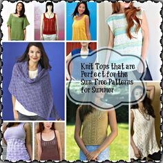 Knit Tops that are Perfect for the Sun: 21 Free Patterns for Summer- We've compiled our favorite tanks, shirts, and summer wraps in our Knit Tops that are Perfect for the Sun: 21 Free Patterns for Summer that you are sure to love. These delicate DIY tops are perfect for anyone who wants to learn how to make clothes that are going to look amazing whether you are lounging on a beach or relaxing by a bonfire.