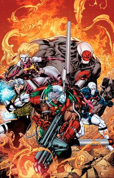 Early Stormwatch by Jim Lee and Scott Williams recolored Comic Book Artists, Comic Artist, Comic Books Art, Arte Dc Comics, Marvel Comics, Marvel Universe, Comic Character, Character Design, Cyberpunk