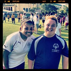 Girl Talk winner, Amber, makes friends on the field at the FL Special Olympics Summer Games