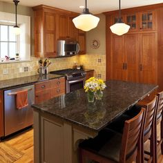 Craftsman Style Kitchen Cabinets Design, Pictures, Remodel, Decor and Ideas - page 2