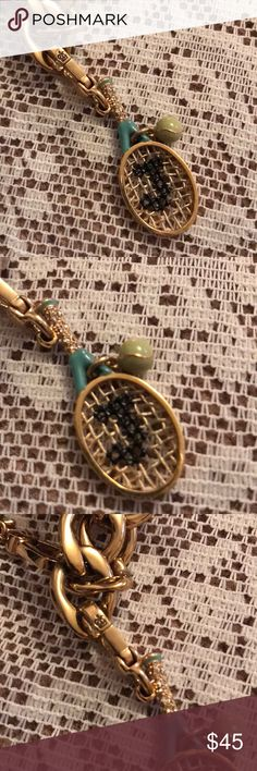 New Juicy Couture Tennis Racket & Ball Charm New without tags no box. Juicy couture Pave Tennis Racket with tennis ball 🎾 charm. No stones missing. Wear on your charm bracelet or a necklace Juicy Couture Jewelry Bracelets