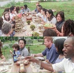 The Walking Dead Season 7 premier growing old together I had so many feels in the first episode this season Walking Dead Memes, Walking Dead Season, Fear The Walking Dead, The Walk Dead, Do Not Open, Growing Old Together, The Day Will Come, Dead Inside, Stuff And Thangs