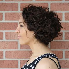 Naturally curly up-do