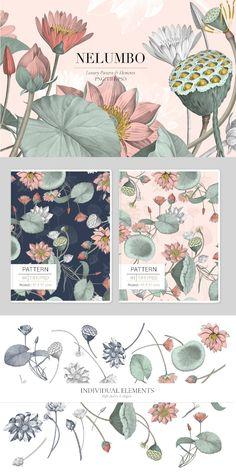 Vintage Pattern Design, Flower Pattern Design, Surface Pattern Design, Flower Graphic Design, Floral Design, Textile Patterns, Print Patterns, Textile Pattern Design, Pattern Illustration