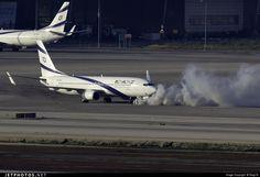EL AL, Boeing 737-8HX 4X-EKS 36433, a full frontal smoking aircraft, Tel Aviv Ben Gurion - LLBG