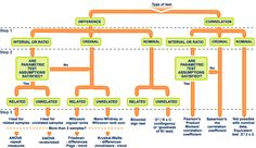 Statistical test flow chart