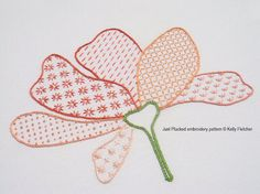 Just Plucked modern hand embroidery pattern by KFNeedleworkDesign