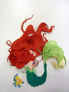 The Little Mermaid Ariel WIP 2 by ~DannyKent based on original work by Brittney Lee Little Mermaid Crafts, Ariel The Little Mermaid, Baby Ariel, Origami, Disney Love, Disney Art, Ariel Disney, Brittney Lee, Serpentina