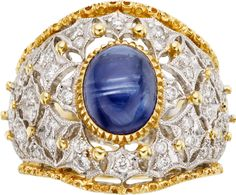 Sapphire, Diamond, Gold, White Gold Ring. ... Estate JewelryRings | Lot #59272 | Heritage Auctions