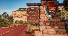 Welcome to Zion National Park . Zion National Park is located in the Southwestern corner of Utah, and northwest of the city of Saint George in Washington, Kane and Iron counties.