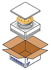 Pie Shipping Boxes - Frozen Cake & Cheesecake Packaging for Shipping