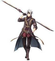 Crow Armbrust Character Art from The Legend of Heroes: Trails of Cold Steel II Fantasy Character Design, Character Design Inspiration, Character Concept, Character Art, Concept Art, Manga Anime, Anime Guys, Anime Art, Fantasy Warrior