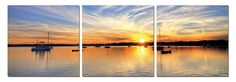 """47"""" Sunset's Spectators. 3 Panel Giclee Framed and Ready to Hang. Modern Art Wall Decor by USADECOR on Etsy https://www.etsy.com/listing/179186352/47-sunsets-spectators-3-panel-giclee"""