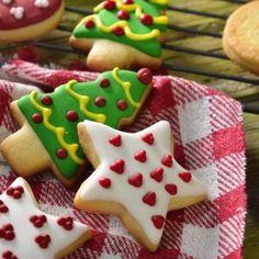 Las mejores recetas - kiwilimon Christmas Sugar Cookies, Christmas Cupcakes, Christmas Desserts, Butter Cookies Tin, No Bake Sugar Cookies, Cookie Desserts, Cookie Recipes, Dessert Recipes, Xmas Food