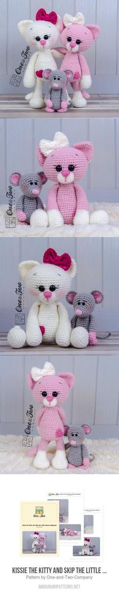 Kissie The Kitty And Skip The Little Mouse  Amigurumi Pattern