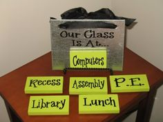 Right now our teacher has some construction paper signs she sticks on the door; this would be a practical gift!