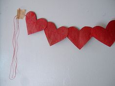 birthday timeline garland - such a sweet idea/sentiment Crafts For Kids, Arts And Crafts, Paper Crafts, Diy Crafts, Kids Timeline, Valentine Day Love, Valentines, Birthday Garland, Heart Garland