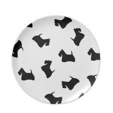 Scottish Terrier dinner ware