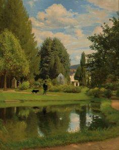 Odoardo Borrani, Garden Walk (1870)