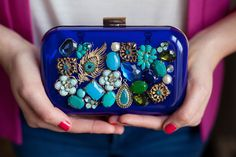 From out of the jewellery box, to the upperside of your clutch http://www.elle.be/nl/88072-diy-10-verrassende-tutorials.html/5