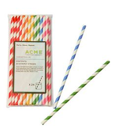 What fun straws!  Take a look at this ACME Rainbow Stripe Straws Set by ACME Party Box Company on #zulily today!