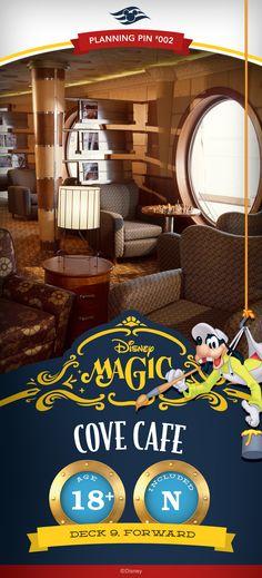 Disney Cruise Line Planning Pins | Disney Magic: Cove Cafe