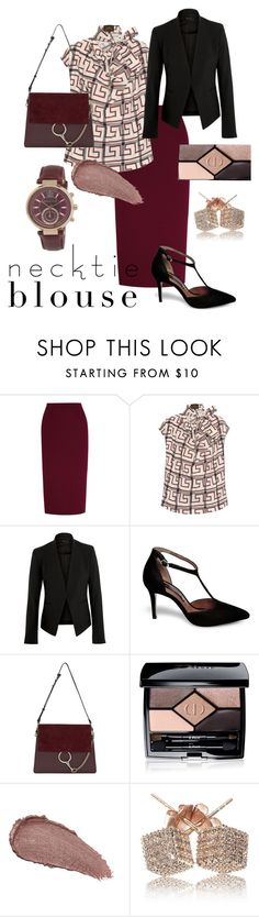 """necktie #2"" by russetandolive ❤ liked on Polyvore featuring Roland Mouret, Vivienne Westwood Anglomania, Theory, Steve Madden, Chloé, Christian Dior, Revlon, Loushelou and Michael Kors"