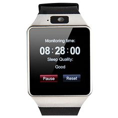 Smart Watch, Touch Screen Intelligent Bluetooth SmartWatch Cell Phone,SIM 2G GSM With Camera, Support Sleep Monitor,Push Message,Anti lost Muti Language Etc for Android Phone(SILVER)   NOTE: The smart watch compatible with all android phone not ios phone, please notice your Phone Models before you buy it. <
