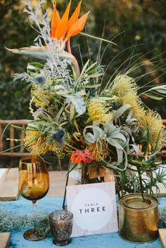 Bohemian Safari Wedding Inspiration by Coba Uys & Journey Weddings Safari Wedding, Safari Theme Party, Wedding Reception Table Decorations, Wedding Centerpieces, Centrepieces, Bush Wedding, Summer Wedding, Dream Wedding, Safari Centerpieces