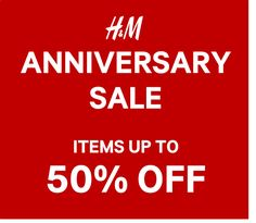Attention Ladies! Check out H&M ANNIVERSARY SALE!  Score on great selection of items of UP TO 50% OFF!  Promo available, month-long, until September 30, 2016! Shop in any H&M Stores and grab fab fashion deals as #HMPHTURNS2!  For more promo deals, VISIT http://mypromo.com.ph/! SUBSCRIPTION IS FREE! Please SHARE MyPromo Online Page to your friends to enjoy promo deals!