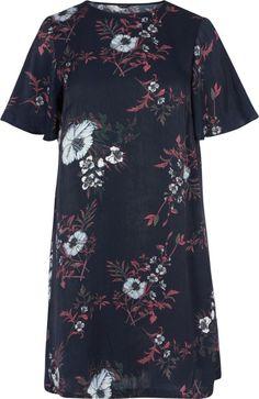 Blomstrete kjole - Kjøp i str. 42-56 på Zizzi.no - Zizzi.no