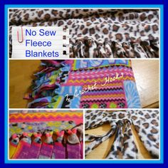 No Sew Fleece Blankets | 2crochethooks --- This is so easy! All you need is fleece and scissors. Make one layer or two.