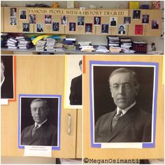 Famous People with History Degrees! High School History Social Studies Bulletin Board...