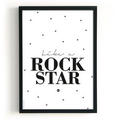 The Birds And The Bees Poster - Happiness & Rockstar - 2 in 1 - ZiZo Living - woonaccessoires, stationary en nog veel meer -
