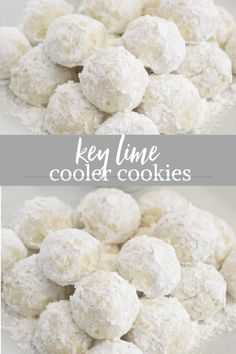 Key Lime Cooler Cookies are soft buttery and bursting with fresh key lime flavor! Key Lime Cooler Cookies are soft buttery and bursting with fresh key lime flavor! Key Lime Cookies, Yummy Cookies, Sugar Cookies, Buttery Cookies, Baking Cookies, Key Lime Cooler Cookies Recipe, Cake Cookies, Gourmet Cookies, Sweets