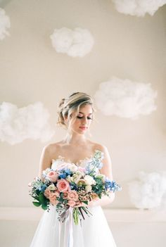 Rose quartz and serenity wedding inspiration | Wedding