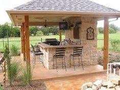 Amazing Outdoor Kitchen Patio Ideas Cozy Outdoor Kitchen Decor Ideas For You outdoor Outdoor Kitchen Plans, Backyard Kitchen, Backyard Bar, Backyard Patio Designs, Outdoor Kitchen Design, Summer Kitchen, Modern Backyard, Backyard Games, Outdoor Cooking