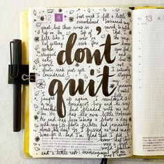 """""""Don't quit Mom,"""" my youngest son said to me recently. Usually I'm the one providing him encouragement, it felt nice to be on the receiving end this time. ❤️ #letteritoctober #journal #artjournal..."""