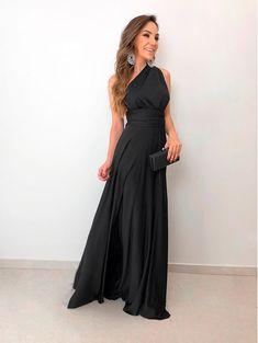 Vestido longo maluma preto tops шикарное платье e платья. Glamour Fashion, Homemade Black, Prom Dresses, Formal Dresses, Beautiful Gowns, Pretty Dresses, Ideias Fashion, Fashion Dresses, Classy