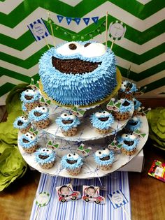 Cupcakes ~ Cookie monster ~ birthday