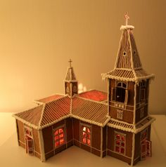 Muonion kirkko - by Sari -- Piparkakkutalo, Joulu, Gingerbread house, Christmas