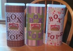 Crystal Light containers for Box Tops classroom collecting