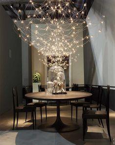 Editors' Picks: 90 Statement Light Fixtures Jan Pauwels's Galaxy chandelier in nickel by Baxter. Modern Lighting Design, Luxury Lighting, Interior Lighting, Home Lighting, Chandelier Lighting, Modern Design, Lighting Ideas, Chandeliers, Lighting Stores