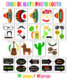 Cinco De Mayo Photo Booth Props42 Pieces 31 by HappyFiestaDesign