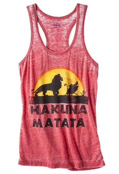 Hakuna Matata Tank Top $12.90 Running tank, would be cute under a sweater too!!